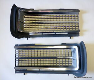 1969 Pontiac Gto Grills With Chrome Moldings Oem Gm Standard Or Hideaway 69