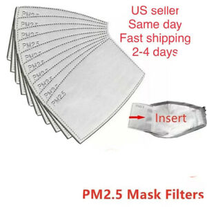 10 100 Pc Pm2 5 Activated Cotton Carbon Filter Face Mask Breathing Adult Kids