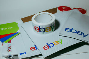 39 Ebay Branded Shipping Supplies Starter Kit Box Envelopes Tape Tissue Postcard