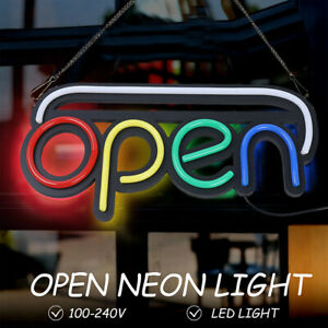 19 7x9 8 Inch Open Sign Neon Led Light Bulb Commercial Lighting Shop W Chain