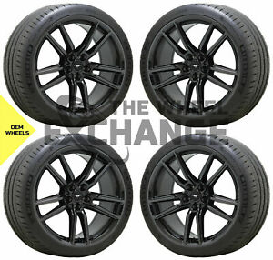 20x11 Ford Mustang Gt500 Black Chrome Wheels Rims Tires Factory Oem 2020 2021
