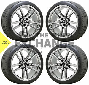20x11 Ford Mustang Gt500 Pvd Chrome Wheels Rims Tires Factory Oem 2020 2021