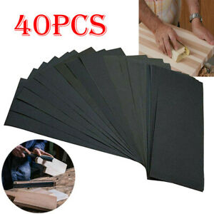 Sandpaper Sand Paper Sanding Sheets Assorted Grit Wet Dry Wood Automotive Metal