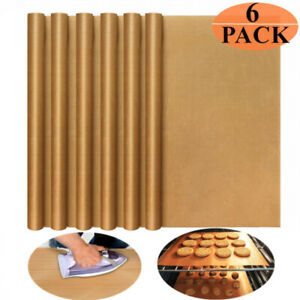 6 X Teflon Sheet Mat Reusable Non stick Ptfe Food Grade For Heat Press Transfer