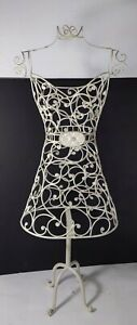 Shabby Chic White Metal Wire Frame Dress Form Girls Boutique Store Display