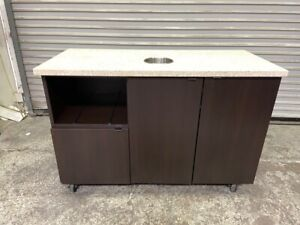 50x23 Coffee Creamer Condiment Trash Cart Waste Station Prep Cabinet 4145 Table