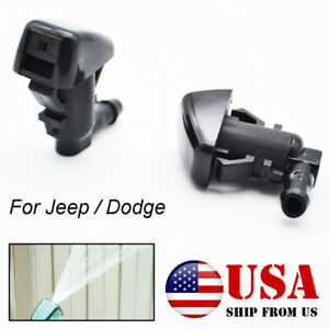 2pcs Front Windshield Wiper Washer Jet Nozzle Spray For Jeep Liberty Commander