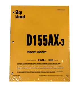 Komatsu D155ax 3 Series Bulldozer Workshop Repair Service Manual Sebd005207