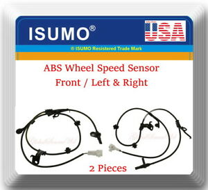 2 X Abs Speed Sensor Front left Right Fits Xd 2008 2009 Yaris 2006 2011