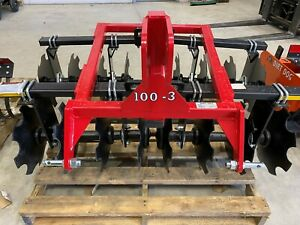 New Dirt Dog 5 Garden Disc Notched 3 Point Hitch Adjustable Tractor