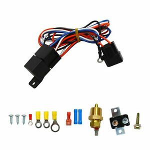 3 8 Thread Engine Cooling Fan Thermostat Temperature Switch Relay Kit