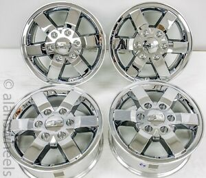 4 New Chevy Colorado Chrome Clad 16 Factory Oem Wheels Rims Lugs 9597983