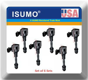 6 Pcs Ignition Coil Fits oem22433 8j115 Infiniti Nissan V6 3 5l 4 0l 2001 2020