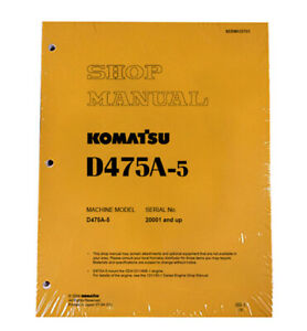 Komatsu D475a 5 Series Bulldozer Workshop Repair Service Manual Pn Sebd033703