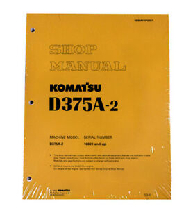 Komatsu D375a 2 Series Bulldozer Workshop Repair Service Manual Sebd01970207