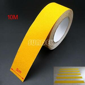 Anti Slip Tape 2 Roll Yellow Grit Flooring Adhesive Safety Grip Safe non Skid