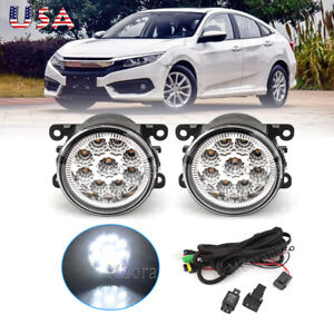 Fog Light Lamp For Ford Fusion 2013 2016 Pair Bumper Replacement 3 Colors Led X2