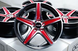 17 Wheels Jetta Beetle Camry Avalon Grand Am Prelude Civic Black Red Rims 5 Lug