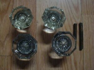 Vintage Antique Glass Or Crystal Door Knobs Parts