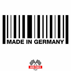 Made In Germany Euro Decal Sticker Bmw Mercedes Vw Audi Porsche Racing Track