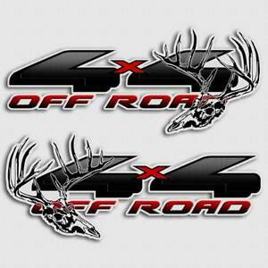 4x4 Black Truck Decal Deer Hunting Archery Skull Sticker For Ford F 150 Hoyt Pse