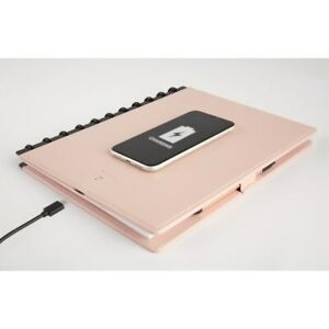 Tul Wireless Charging Notebook Leather Cover 8 1 2 X 11 Blush
