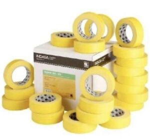 Indasa 556740 3 4 Yellow Masking Tape Case Of 48 Rolls Automotive Marine