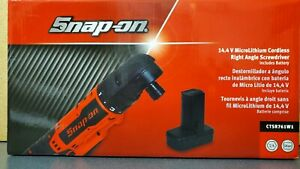 Snap On Ctsr761w1 14 4 V Microlithium Cordless Right Angle Screwdriver