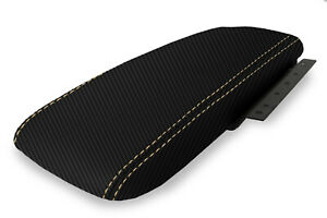 Console Armrest Cover Carbon Fiber For Ford Crown Victoria 03 11 Beige Stitch
