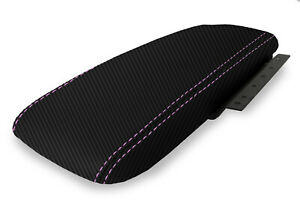 Console Armrest Cover Carbon Fiber For Ford Crown Victoria 03 11 Purple Stitch