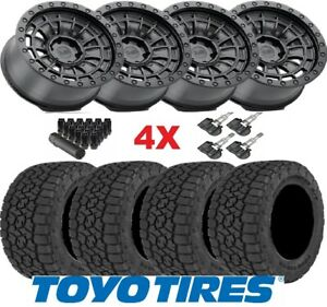 18 Black Rhino Wheels Rims Tires 285 60 18 Toyo At3 All Terrain At Method Fuel
