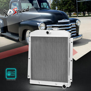 Aluminum Core 3 row Cooling Radiator For 47 54 Chevy Suburban pickup V8 Engine