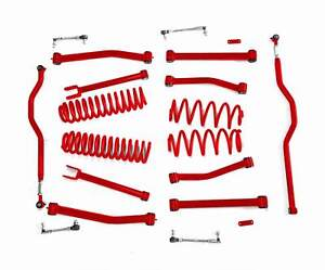 Steinjager Lift Kit Wrangler Jk 2007 2018 4 Inch Red Baron