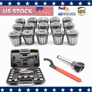 Er32 Spring Collet Set M12 Mt3 Collet Chuck Holder Wrench Chuck Cnc Milling Tool