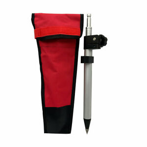 New 60cm Telescopic Mini Prism Pole precise Tip Stretch For Leica Total Stations
