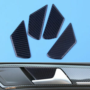 Fit For Vw Golf 7 Mk7 Vii Carbon Fiber Door Handle Bowl Cover Trims Accessories