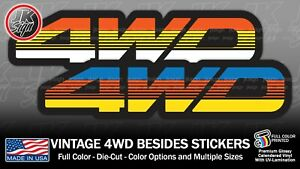4wd Bedside Sticker Decal For Toyota Jeep Tacoma 4runner Fjcruiser Vintage 4x4