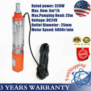 24v Dc Water Pump System Kit Submersible Irrigation Farm Ranch 320w 25m 5m h Us