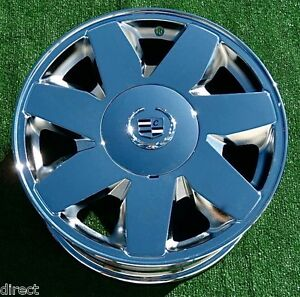 Chrome Cadillac Wheels Deville Dts Oem Factory Style Set Of Four 4 New 17 Inch
