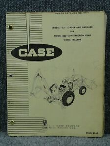 Factory Case Model 23 Loader And Backhoe For 430ck Tractor Parts Catalog Manual