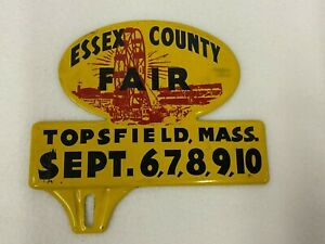 Vintage Essex County Fair Topsfield Massachusetts License Plate Topper