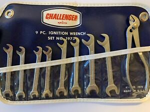 Pronto Challenger Unused 9 Piece Vintage Ignition Wrench Set 1970 s Nos