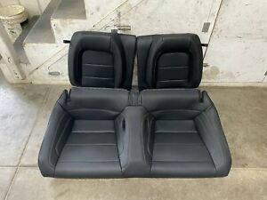 2015 2019 Mustang Gt Coupe Rear Seats Black Leather Oem