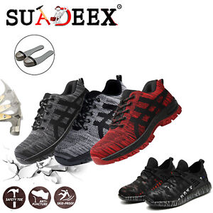 Mens Safety Work Shoes Steel Toe Boots Indestructible Outdoor Casual Sneakers