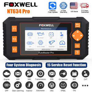 Foxwell Nt634 Pro Engine Abs Srs Tpms Dpf Obd2 Car Diagnostic Scanner Automotive