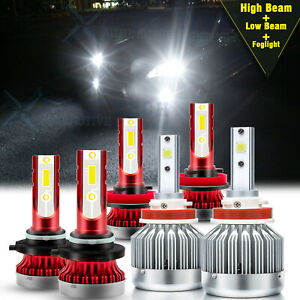 For Toyota Camry 2007 2014 Led Headlight High Low Fog Light Bulbs Kit 9005 H11