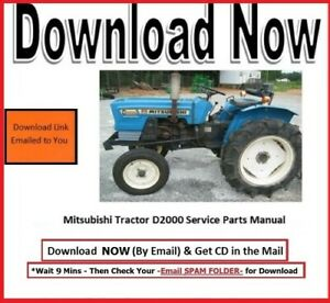 Mitsubishi Farm Tractor D2000 Service Parts Manual On Cd