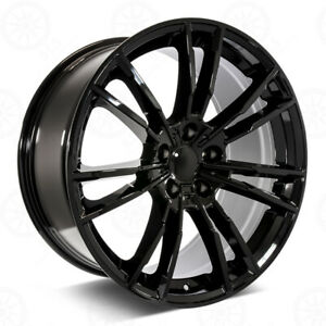 19 Gloss Black M5 Style Wheels Fits Bmw 1 2 3 4 And 5 Series