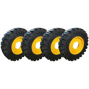 4 New Summit Solid Telehandler Tires 13x24 With Rims Fits Jcb 506 36