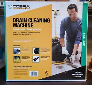 Cobra 90040 38 X 75 Cable Drain Cleaning Auger Machine 1 3 Hp New